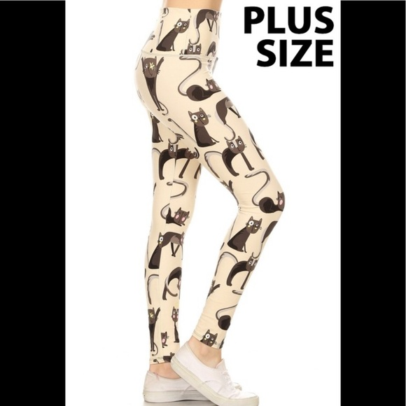 e8849b76cc Leggings Depot Pants | Cartoon Cats Leggings | Poshmark